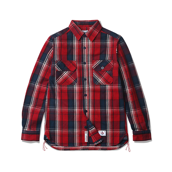 "<span style=""font-family:NanumGothic; font-size:15px; font-weight:bold;"">Don Heavy Flannel CPO Shirt Red</span><br /><span style=""font-family:NanumGothic; font-size:11px;"">2014-15 시즌부터 착실하게 준비해온 데님인디고마스터(Denim Indigo Master,DIM)와의 협업 제품으로 2015-16 A/W Season에 선보이는 Heavy Flannel CPO 셔츠 제품입니다. Espionage에서 매 시즌마다 발매되는 CPO Shirts Jacket을 워크셔츠와 믹스하여 제작한 제품이며 메인원단으로는 인도산 100% Cotton으로 제직 된 마드라스 체크 패턴의 Heavy Flannel을 사용하였습니다. 칼라의 넓이와 패턴 디자인 역시 기존의 포멀한 셔츠에서 벗어나 레트로 무드의 패턴 디자인으로 변화시킨 제품이며 밑단에는 60년 대 워크셔츠 디테일 중 하나인 카라칸(空環)으로 마무리하여 그 당시의 봉제방법을 적극적으로 차용하였습니다. 단단한 재봉을 위한 트리플스티치와 카라칸(空環) 등은 1895년에 시작 된 미국의 워크웨어 브랜드 Stronghold社의 메인공장에서 재봉되어 완성도를 최대한 높인 제품이라 할 수 있습니다. 부자재로는 Espionage와 DIM에서 직접 발주한 인도산 앵커 버튼을 사용하여 밀리터리 속성 제품 특유의 무게를 더하였으며 새롭게 디자인 된 C.P.O 메인라벨을 부착하여 Espionage X DIM 협업제품의 매력을 느끼실 수 있습니다.</span><br /><a href=""http://www.wherehouse.co.kr/shop/shopdetail.html?branduid=732683&xcode=041&mcode=002&scode=002&type=Y&sort=order"" target=""_blank""><span style=""font-size:11px; color:#FFE400;"">BUY NOW</span></a>"