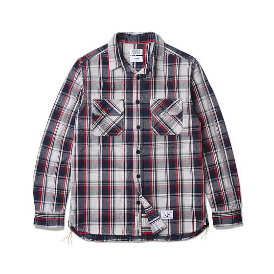 "<span style=""font-family:NanumGothic; font-size:15px; font-weight:bold;"">Don Heavy Flannel CPO Shirt Red</span><br /><span style=""font-family:NanumGothic; font-size:11px;"">2014-15 시즌부터 착실하게 준비해온 데님인디고마스터(Denim Indigo Master,DIM)와의 협업 제품으로 2015-16 A/W Season에 선보이는 Heavy Flannel CPO 셔츠 제품입니다. Espionage에서 매 시즌마다 발매되는 CPO Shirts Jacket을 워크셔츠와 믹스하여 제작한 제품이며 메인원단으로는 인도산 100% Cotton으로 제직 된 마드라스 체크 패턴의 Heavy Flannel을 사용하였습니다. 칼라의 넓이와 패턴 디자인 역시 기존의 포멀한 셔츠에서 벗어나 레트로 무드의 패턴 디자인으로 변화시킨 제품이며 밑단에는 60년 대 워크셔츠 디테일 중 하나인 카라칸(空環)으로 마무리하여 그 당시의 봉제방법을 적극적으로 차용하였습니다. 단단한 재봉을 위한 트리플스티치와 카라칸(空環) 등은 1895년에 시작 된 미국의 워크웨어 브랜드 Stronghold社의 메인공장에서 재봉되어 완성도를 최대한 높인 제품이라 할 수 있습니다. 부자재로는 Espionage와 DIM에서 직접 발주한 인도산 앵커 버튼을 사용하여 밀리터리 속성 제품 특유의 무게를 더하였으며 새롭게 디자인 된 C.P.O 메인라벨을 부착하여 Espionage X DIM 협업제품의 매력을 느끼실 수 있습니다.</span><br /><a href=""http://www.wherehouse.co.kr/shop/shopdetail.html?branduid=732684&xcode=041&mcode=002&scode=002&type=Y&sort=order"" target=""_blank""><span style=""font-size:11px; color:#FFE400;"">BUY NOW</span></a>"