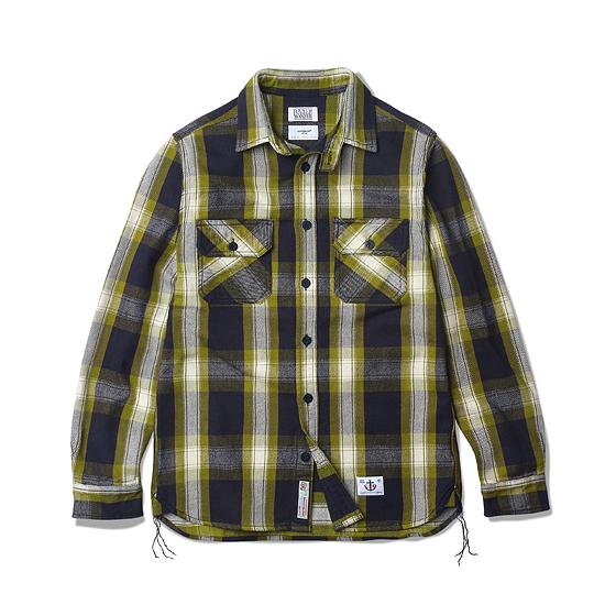 "<span style=""font-family:NanumGothic; font-size:15px; font-weight:bold;"">Don Heavy Flannel CPO Shirt Yellow</span><br /><span style=""font-family:NanumGothic; font-size:11px;"">2014-15 시즌부터 착실하게 준비해온 데님인디고마스터(Denim Indigo Master,DIM)와의 협업 제품으로 2015-16 A/W Season에 선보이는 Heavy Flannel CPO 셔츠 제품입니다. Espionage에서 매 시즌마다 발매되는 CPO Shirts Jacket을 워크셔츠와 믹스하여 제작한 제품이며 메인원단으로는 인도산 100% Cotton으로 제직 된 마드라스 체크 패턴의 Heavy Flannel을 사용하였습니다. 칼라의 넓이와 패턴 디자인 역시 기존의 포멀한 셔츠에서 벗어나 레트로 무드의 패턴 디자인으로 변화시킨 제품이며 밑단에는 60년 대 워크셔츠 디테일 중 하나인 카라칸(空環)으로 마무리하여 그 당시의 봉제방법을 적극적으로 차용하였습니다. 단단한 재봉을 위한 트리플스티치와 카라칸(空環) 등은 1895년에 시작 된 미국의 워크웨어 브랜드 Stronghold社의 메인공장에서 재봉되어 완성도를 최대한 높인 제품이라 할 수 있습니다. 부자재로는 Espionage와 DIM에서 직접 발주한 인도산 앵커 버튼을 사용하여 밀리터리 속성 제품 특유의 무게를 더하였으며 새롭게 디자인 된 C.P.O 메인라벨을 부착하여 Espionage X DIM 협업제품의 매력을 느끼실 수 있습니다.</span><br /><a href=""http://www.wherehouse.co.kr/shop/shopdetail.html?branduid=732685&xcode=041&mcode=002&scode=002&type=Y&sort=order"" target=""_blank""><span style=""font-size:11px; color:#FFE400;"">BUY NOW</span></a>"