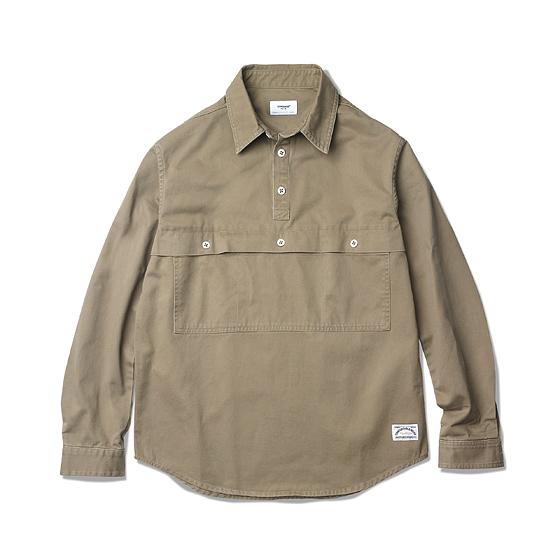"<span style=""font-family:NanumGothic; font-size:15px; font-weight:bold;"">Keller Anorak Shirt Beige</span><br /><span style=""font-family:NanumGothic; font-size:11px;"">1990년대 풀오버 스포츠 자켓과 버튼 플라켓 방식이 특징인 빈티지 아노락 파카를 모티브로 하여 셔츠로의 재해석을 시도한 제품입니다. 메인 원단은 10s Heavy Twill Cotton 원단을 사용하여 서늘한 날씨에도 레이어드 없이 단독으로 착용 하실 수 있게끔 제작되었으며 아노락 파카의 특징 중 하나인 전면 절개선에 위치한 메인 포켓은 현대적인 의복의 분위기에 맞도록 간소화하여 디자인 하였습니다. 특히 제품의 완성 후 데미지 워싱 작업을 통해 후반 가공에도 심혈을기울인 제품입니다. 또한 재봉의 높은 퀄리티와 함께 Melamine button(Made In U.S.A)을 메인 단추로 사용함으로써 제품의 완성도를 높였으며 본격적으로 다가올 2015-16 A/W 시즌의 계절적 특성에 충분히 부합하는 아이템이 되리라 자부합니다.</span><br /><a href=""http://www.wherehouse.co.kr/shop/shopdetail.html?branduid=732687&xcode=041&mcode=002&scode=002&type=Y&sort=order"" target=""_blank""><span style=""font-size:11px; color:#FFE400;"">BUY NOW</span></a>"