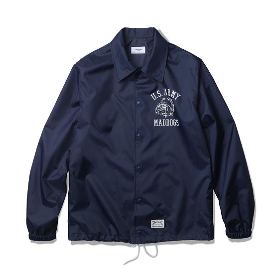 "<span style=""font-family:NanumGothic; font-size:15px; font-weight:bold;"">Blake Coach Shirts Jacket Navy</span><br /><span style=""font-family:NanumGothic; font-size:11px;"">과거 빈티지 코치 재킷의 패턴을 새롭게 이용해 완성시킨 제품으로 셔츠와의 믹스를 시도한 새로운 분위기의 제품입니다. ""Pre Fall"" 시즌의 기후를 고려한 적합한 밀도를 지닌 폴리에스테르 소재를 사용하였고, 이너웨어 착용을 고려한 패턴을 적용하여 여유로운 피팅을 느끼실 수 있습니다. 실제 Vietnam 240th Assault Helicopter 패치를 모티브로 하여 새롭게 재해석 된 US Army Mad dogs 그래픽이 특징이며 부자재로는 YKK社의 Sungrip 스냅을 사용하여 경량성을 극대화하였고 탈착의 편의성을 강조하였습니다.</span><br /><a href=""http://www.wherehouse.co.kr/shop/shopdetail.html?branduid=732013&xcode=041&mcode=002&scode=002&type=Y&sort=order"" target=""_blank""><span style=""font-size:11px; color:#FFE400;"">BUY NOW</span></a>"