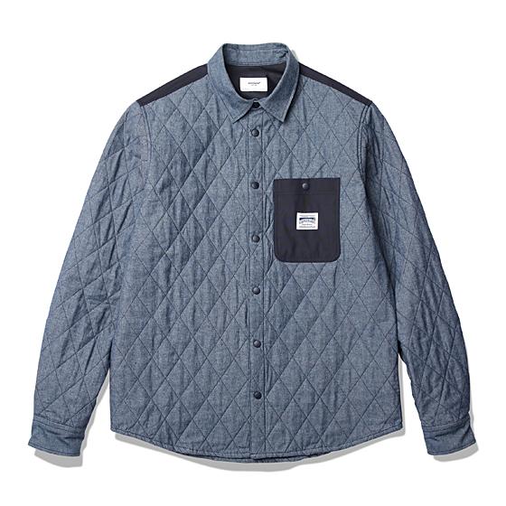 "<span style=""font-family:NanumGothic; font-size:15px; font-weight:bold;"">Nestor Padded Shirts Indigo</span><br /><span style=""font-family:NanumGothic; font-size:11px;"">기존 ESPIONAGE에서 선보였던 Shirts-Jacket 제품류의 업그레이드 형 제품으로 100% Cotton 원단을 겉감으로 사용하여, 퀼팅 방식의 제품이지만 소재에 대한 터칭감도 충분히 고려된 제품입니다. 내부 안감으로는 폴리에스테르 원단을 사용해 착용감을 높였으며 겉면과 내부 모두 퀼팅방식으로 최종 공정을 마무리하여 퀼팅 자켓 본연의 분위기 또한 높인 활용도 높은 아이템입니다. 또한 스냅 결속 방식의 메인 플래킷과 소매 덧 단트임은 자켓의 무드 또한 지니고 있으며 Back Yoke 및 가슴의 메인 상단 포켓은 폴리에스테르 옥스포드 원단을 사용하여 견고함 또한 높였습니다. 완성도 높은 재봉과 퀼팅 방식으로 제작된 이번 제품은 서늘한 봄 높은 활용도를 지닌 제품이 되리라 생각합니다.</span><br /><a href=""http://www.wherehouse.co.kr/shop/shopdetail.html?branduid=727599&xcode=027&mcode=001&scode=&type=Y&sort=order"" target=""_blank""><span style=""font-size:11px; color:#FFE400;"">BUY NOW</span></a>"