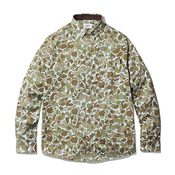 "<span style=""font-family:NanumGothic; font-size:15px; font-weight:bold;"">Marcos Striped Camo Shirt Camo</span><br /><span style=""font-family:NanumGothic; font-size:11px;"">ESPIONAGE HQ에서 새롭게 준비한 셔츠 아이템으로 세로줄의 블루 스트라이프 패턴과 1942년 미군에서 처음선보였던 Duck Hunting Camouflage 패턴을 믹스한 원단을 사용해 넉넉한 피팅으로 완성시킨 제품입니다. 가장 기본적인 패턴의 아이템이지만 밀도높은 코튼 트윌 원단을 베이스로 사용해 SS 시즌에 가장 걸맞은 두께를 구현했으며 간절기는 물론 초여름까지도 충분히 활용할 수 있는 셔츠 제품입니다. 단단한 재봉 후 워싱 가공을 한번 진행하여 부드러운 촉감을 느낄 수 있으며 얇은 베스트나 베이지 컬러의 치노팬츠 등 다양한 팬츠와 손쉬운 룩을 만들 수 있는 유니크 한 아이템입니다.</span><br /><a href=""http://www.wherehouse.co.kr/shop/shopdetail.html?branduid=727902&xcode=029&mcode=003&scode=&type=Y&sort=order"" target=""_blank""><span style=""font-size:11px; color:#FFE400;"">BUY NOW</span></a>"