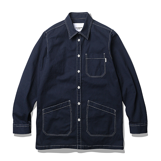 "<span style=""font-family:NanumGothic; font-size:15px; font-weight:bold;"">Brice Shop Shirt Jacket Navy</span><br /><span style=""font-family:NanumGothic; font-size:11px;"">워크셔츠와 코트의 믹스 패턴을 이용해 완성한 아이템 입니다. 외형적으로 과거 자동차 정비소의 엔지니어들이 작업시 착용했던 Engineer Coat(엔지니어코트)의 분위기를 직접적으로 느끼실 수 있으며 촘촘한 재봉으로 완성하여 당시대의 분위기는 물론 최근 각광받는 단단하고 묵직한 홑겹 셔츠의 느낌 역시 가지는 활용도 높은 아이템이라 볼수 있습니다. 제품은 밀리터리 10수 Herringbone Twill 원단을 사용한 솔리드 타입과 코튼 히코리 원단을 사용한 스트라이프 타입의 총 2가지 원단으로 제작되었습니다. 다크 네이비 컬러의 솔리드 타입은 아이보리 컬러의 실로 재봉하여 은은한 디테일을 가지도록 실 컬러에 포인트를 더한 디자인으로 완성되었습니다. 스트라이프 타입은 아이보리 컬러와 스트라이프의 완성도를 높이고자 은은한 실 컬러로 재봉하여 오리지널 엔지니어 워크 코트의 분위기를 최대한 이끌어 냈습니다. </span><br /><a href=""http://www.wherehouse.co.kr/shop/shopdetail.html?branduid=728109&xcode=029&mcode=003&scode=&type=Y&sort=order"" target=""_blank""><span style=""font-size:11px; color:#FFE400;"">BUY NOW</span></a>"