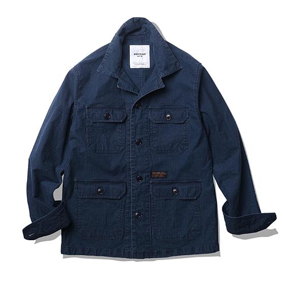 """<span style=""""font-family:NanumGothic; font-size:15px; font-weight:bold;"""">Hunter Rib Military Shirt Jacket Navy</span><br /><span style=""""font-family:NanumGothic; font-size:11px;"""">Ripstop이란 원단 조직의 한 형태를 이야기하며 강한 실을 바둑판 형태로 사이사이에 넣어 제작한 원단을 이야기합니다. 총 네이비와 브라운의 두 가지 컬러로 제작되었으며 가장 기본적인 밀리터리 4포켓 셔츠 자켓을 토대로 A-1 Wool Jacket의 패턴과 특징을 믹스해 완성시켰습니다. 코튼 Back Sateen 버전과 달리 다소 가벼운 색상과 워싱 등의 후반 가공에 집중한 제품으로 Cotton Ripstop 원단 특유의 가공 후 높은 데미지로 Cotton Back Sateen 원단과 다른 워싱 느낌을 만나보실 수 있습니다. 별도의 안감이 필요하지 않을 정도로 메인 원단의 밀도와 촉감을 충분히 느끼실 수 있는 제품입니다.</span><br /><a href=""""http://www.wherehouse.co.kr/shop/shopdetail.html?branduid=728379&xcode=029&mcode=003&scode=&type=Y&sort=order"""" target=""""_blank""""><span style=""""font-size:11px; color:#FFE400;"""">BUY NOW</span></a>"""