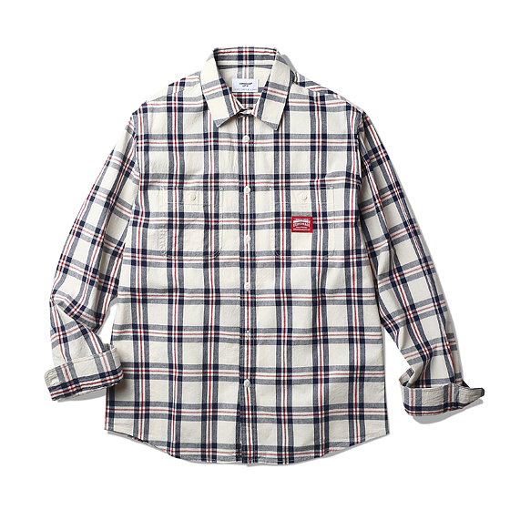 """<span style=""""font-family:NanumGothic; font-size:15px; font-weight:bold;"""">Miles L/S Shirt Red Plaid</span><br /><span style=""""font-family:NanumGothic; font-size:11px;"""">에스피오나지 셔츠 제품 중 가장 루즈한 핏으로 디자인된 제품입니다. 전체적인 외형은 기본에 충실한 Double Pocket Work Shirt(더블 포켓 워크 셔츠)의 패턴을 베이스로 하였으며, 여름 시즌에 적합하도록 제직된 로얄블루/레드 컬러 조합의 체크 코튼 원단이 사용 되어 제품에 시원한 느낌을 주었습니다. 특히 원단의 방향을 돌리는 바이어스를 백요크 부분에 작업하여 체크 패턴의 대칭과 트릭을 적절하게 활용한 제품입니다. 평소 착용하시던 에스피오나지의 사이즈로 착용 시엔 루즈한 핏(Fit)의 룩이 완성되며 한 사이즈 작은 제품을 착용할 경우 저스트한 핏(Fit)을 완성할 수 있으니 취향에 따라 사이즈표를 반드시 확인하여 주시길 권장합니다.</span><br /><a href=""""http://www.wherehouse.co.kr/shop/shopdetail.html?branduid=729530&xcode=029&mcode=003&scode=&type=Y&sort=order"""" target=""""_blank""""><span style=""""font-size:11px; color:#FFE400;"""">BUY NOW</span></a>"""