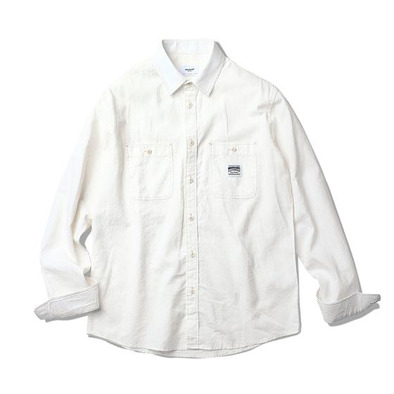 "<span style=""font-family:NanumGothic; font-size:15px; font-weight:bold;"">Miles L/S Shirt Ivory</span><br /><span style=""font-family:NanumGothic; font-size:11px;"">에스피오나지 셔츠 제품 중 가장 루즈한 핏으로 디자인된 제품입니다. 전체적인 외형은 기본에 충실한 Double Pocket Work Shirt(더블 포켓 워크 셔츠)의 패턴을 베이스로 하였으며, 여름 시즌에 적합하도록 제직된 아이보리 코튼/린넨 혼방 원단이 사용 되어 제품에 시원한 느낌을 주었습니다. 전체적으로 아이보리 색의 원단과 잘 어울리는 아이보리 계열의 실을 본봉에 사용하여 은은한 느낌을 더했습니다. 평소 착용하시던 에스피오나지의 사이즈로 착용 시엔 루즈한 핏(Fit)의 룩이 완성되며 한 사이즈 작은 제품을 착용할 경우 저스트한 핏(Fit)을 완성할 수 있으니취향에 따라 사이즈표를 반드시 확인하여 주시길 권장합니다.</span><br /><a href=""http://www.wherehouse.co.kr/shop/shopdetail.html?branduid=729531&xcode=029&mcode=003&scode=&type=Y&sort=order"" target=""_blank""><span style=""font-size:11px; color:#FFE400;"">BUY NOW</span></a>"
