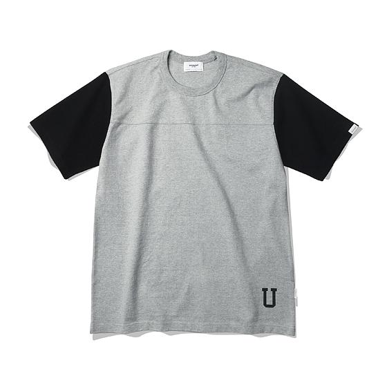 """<span style=""""font-family:NanumGothic; font-size:15px; font-weight:bold;"""">Univ 2tone Ringspun HeavyWeight T-Shirt Grey</span><br /><span style=""""font-family:NanumGothic; font-size:11px;"""">ESPIONAGE 2015 SS 시즌을 맞이해 새로운 원사와 제직으로 완성된 Knitting 아이템입니다. OG 10's Ringspun Yarn(링원사 오리지널 10수) Heavyweight Cotton 원사를 바탕으로 단단한 밀도로 제직되 낮은 수축률과 Knitting 원단임에도 적절한 고시감까지 느낄수 있는 제품이며 특히 제품의 완성 후 별도의 노멀워싱까지 가미해  후반 가공에 있어서 역시 심혈을 기울인 제품입니다. 과거 빈티지 스포츠웨어에서 자주 보이는 가슴 절개와 소매의 별도 컬러 믹스를 활용한 아이템이며 제품 하단 University의 U그래픽이 나염처리되어 있습니다.    </span><br /><a href=""""http://www.wherehouse.co.kr/shop/shopdetail.html?branduid=730299&xcode=029&mcode=003&scode=&type=Y&sort=order"""" target=""""_blank""""><span style=""""font-size:11px; color:#FFE400;"""">BUY NOW</span></a>"""