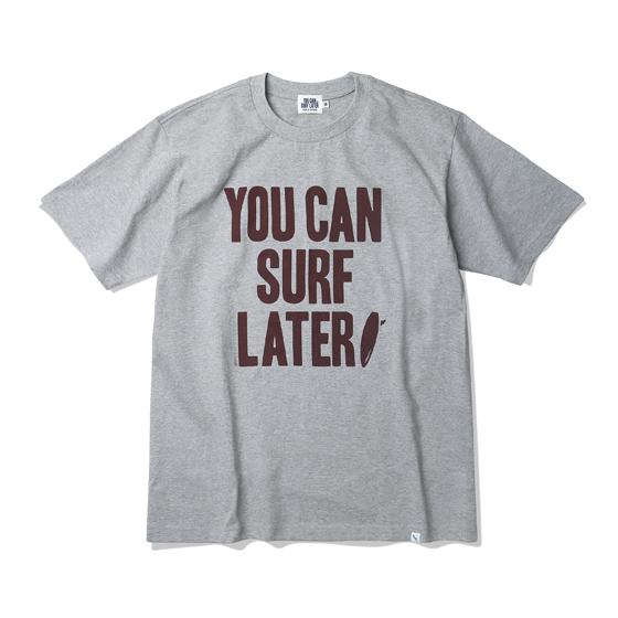 """<span style=""""font-family:NanumGothic; font-size:15px; font-weight:bold;"""">YCSL Logo Tubular T-Shirt Grey</span><br /><span style=""""font-family:NanumGothic; font-size:11px;"""">'YOU CAN SURF LATER' 챕터 01시즌을 맞이해 새로운 원사와 제직으로 완성된 Surf Later Tubular T-Shirt White 제품입니다. 20's Combed Yarn(코마원사 튜브 20수)Cotton 원단을 바탕으로 20's의 가장 기본적인 두께지만 튜브 제직을 통해 높은 밀도와 단단함을 느낄 수 있는 제품입니다. 특히 샘플 튜브 제직을 진행한 뒤 제품의 시험 세탁까지 사전 작업을 이루어 수축률을 최소한으로 낮춘 제품입니다. 더불어 이번 시즌부터 새롭게 적용된 20's 제품만의 타이트한 넥 라인은 과거 빈티지 제품들을 철저히 분석해 새로운 폭과 방식으로 제작되었으며 제품의 전면에는 'YOU CAN SURF LATER' OG 로고가 나염처리되어 있습니다.</span><br /><a href=""""http://www.wherehouse.co.kr/shop/shopdetail.html?branduid=730370&xcode=029&mcode=003&scode=&type=Y&sort=order"""" target=""""_blank""""><span style=""""font-size:11px; color:#FFE400;"""">BUY NOW</span></a>"""