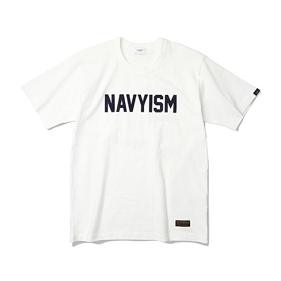 """<span style=""""font-family:NanumGothic; font-size:15px; font-weight:bold;"""">Navyism Heavy Weight Tee Off White</span><br /><span style=""""font-family:NanumGothic; font-size:11px;"""">Espionage 2016 S/S Season Part 2. Navyism Heavy Weight T-Shirts 입니다. Espionage에서 직접 시직하고 제직한 Original 10's Ringspun Yarn(오리지널 10수 링 원사) Heavyweight Cotton을 바탕으로 높은 밀도로 제직 되어 Knitting 원단임에도 낮은 수축률과 적절한 고시감까지 느낄수 있으며 특히 제품의 완성 후 한 차례 워싱까지 작업해 후반 가공에 있어서도 심혈을 기울인 제품입니다. 또한 이번 시즌부터 새롭게 적용된 타이트한 넥 라인과 넓은 폭(2.7cm)의 Dubble Folder 방식은 과거 빈티지 제품들을 철저히 분석 후 제작되어 오랜기간 착용하셔도 목 늘어짐이 적게끔 완성되었습니다. 제품 전면에는 NAVYISM 문구가 Flocking 방식으로 나염처리 한 것이 특징인 제품으로 2016 SS 시즌의 니팅 제품들은 고객분들에게 충분히 만족시킬만한 완성도를 드리리라 생각합니다.</span><br /><a href=""""http://www.wherehouse.co.kr/shop/shopdetail.html?branduid=737802"""" target=""""_blank""""><span style=""""font-size:11px; color:#FFE400;"""">BUY NOW</span></a>"""