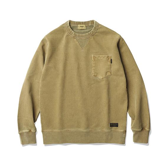 "<span style=""font-family:NanumGothic; font-size:15px; font-weight:bold;"">Eric Pigment Dyed Sweat Shirts Mustard</span><br /><span style=""font-family:NanumGothic; font-size:11px;"">일반적으로 사용되는 560g/yd² 니팅 제품들보다 월등한 두께와 밀도로 제직된 제품으로 930g/yd²의 중량을 지니고 있으며 내부에는 기모(起毛, Napping)처리를 하여 겨울철에는 이너웨어의 용도로써 착용이 가능하며 환절기에는 단독으로 착용이 가능합니다. 일반적인 편직물에 비해 도목을 최대한으로 좁게 편직하여 밀도가 굉장히 높으며 오랜 사용 기간에도 충분한 가치가 존재할 수 있도록 많은 노력을 기울인 제품입니다. 930g/yd²의 중량의 제직 된 생지원단으로 완봉 후 별도의 피그먼트 가공과 바이오 워싱 작업을 동시에 진행하였으며 높은 열의 수축을 통해 원단의 밀도를 높인 제품으로 원단의 단단함과 밀도에 맞는 튼튼한 재봉으로 완성도를 최대한 높인 제품이라 할 수 있습니다. </span><br /><a href=""http://www.wherehouse.co.kr/shop/shopdetail.html?branduid=735414"" target=""_blank""><span style=""font-size:11px; color:#FFE400;"">BUY NOW</span></a>"