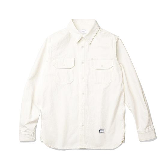 "<span style=""font-family:NanumGothic; font-size:15px; font-weight:bold;"">Denis Work Shirts White</span><br /><span style=""font-family:NanumGothic; font-size:11px;"">1940년 대 빈티지 워크 셔츠를 모티브로 하여 제작된 제품으로 원, 부자재 및 패턴, 봉제 테크닉을 최대한 재현하여 기존의 포멀한 셔츠에서 벗어나 레트로 무드의 디자인으로 변화시킨 제품입니다. 메인 원단으로는 견고함이 우선시되는 워크 셔츠 특성에 맞게끔 밀도 높게 제직 된 16s Cotton 100% Oxford Slub 원단을 사용하여 오랜 사용 기간에도 충분한 가치가 존재할 수 있도록 많은 노력을 기울였습니다. 전체적으로 아이보리 색의 원단과 잘 어울리는 아이보리 계열의 실을 사용하여 은은한 느낌을 더했으며 제품 완성 후 워싱을 진행함으로써 착용감 또한 매끄럽고 최종 진행한 워싱으로 제품의 고정화를 통해 최소의 수축률이 높은 장점으로 어필되는 제품입니다.</span><br /><a href=""http://www.wherehouse.co.kr/shop/shopdetail.html?branduid=735499"" target=""_blank""><span style=""font-size:11px; color:#FFE400;"">BUY NOW</span></a>"