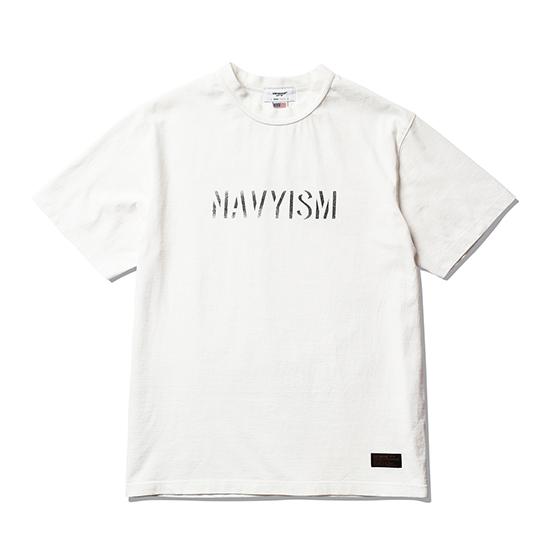 "<span style=""font-family:NanumGothic; font-size:15px; font-weight:bold;"">NAVYISM Crack T-Shirt Off White</span><br /><span style=""font-family:NanumGothic; font-size:11px;"">미국산 면화(Cotton USA)를 바탕으로 OG 16's Ringspun Yarn(오리지널 16수 링원사)을 사용하여 편직된 원단으로 360g/yd²의 중량을 지니고 있으며 일반적인 편직물에 비해 도목을 최대한 좁게 편직하여 밀도를 높여 오랜 기간 사용에도 제품의 원형유지가 지속 되도록 많은 노력을 기울였습니다. 더불어 립(Rib) 역시 메인 원단 사양에 맞게끔 높은 밀도와 중량감 있는 100% Cotton 립(Rib)을 별도로 제직하여 쉽게 늘어 날 수 있는 넥 라인의 내구성을 강조한 제품입니다. 특히 제품의 완성 후 한 차례 워싱까지 작업해 후반 가공에 있어서도 심혈을 기울인 제품으로 특유의 촉감과 수축률을 고정화 시킨 것이 이번 제품의 장점이라고 할 수 있습니다. 제품 전면에는 NAVYISM 문구를 크랙 작업으로 고압력 및 고열의 특수 나염 처리 방식을 사용하여 오랜 사용감에도 데미지가 적도록 나염처리 한 제품입니다.</span><br /><a href=""http://www.wherehouse.co.kr/shop/shopdetail.html?branduid=744716"" target=""_blank""><span style=""font-size:11px; color:#FFE400;"">BUY NOW</span></a>"