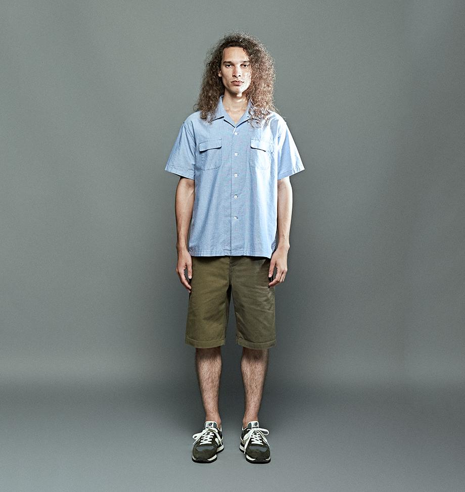 에스피오나지(ESPIONAGE) Allen S/S Shirt Vintage Blue
