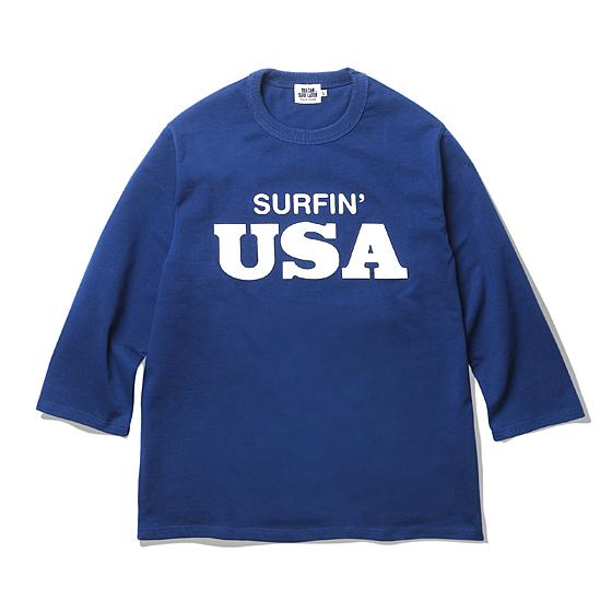 "<span style=""font-family:NanumGothic; font-size:15px; font-weight:bold;"">Surfin USA L/S Shirts Blue</span><br /><span style=""font-family:NanumGothic; font-size:11px;""> 1962년에 데뷔한 밴드 Beach Boys의 싱글 커버인 Surfin' USA 타이포그래피를 별도로 디자인해 완성시킨 아이템으로 니팅 원단 중 가장 희소성이 높은 12수 원단을 사용해 높은 밀도를 자랑하는 제품입니다. 최소 수축률을 위해 별도로 덤블 및 덴타 가공을 실시해 방축 역시 세심하게 진행된 컨트롤 한 제품으로 단단함을 지닌 원단을 사용한 만큼 넥 라인의 패턴과 리브(Rib) 소재 역시 그에 상응하는 소재와 감성으로 제작되었습니다. 또한 고압의 나염 처리 과정을 거친 그래픽은 깔끔한 타이포그래피의 매력을 한 층 업그레이드 시키고 있으며 다양한 티셔츠 라인업에도 선보일 예정입니다.</span><br /><a href=""http://www.wherehouse.co.kr/shop/shopdetail.html?branduid=728535&xcode=029&mcode=003&scode=&type=Y&sort=order"" target=""_blank""><span style=""font-size:11px; color:#FFE400;"">BUY NOW</span></a>"