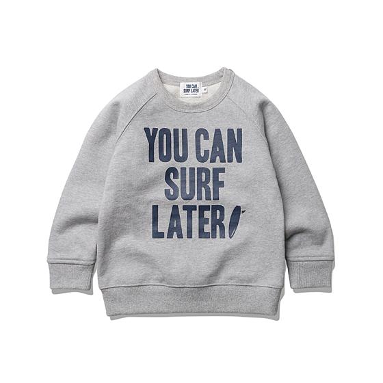 "<span style=""font-family:NanumGothic; font-size:15px; font-weight:bold;"">Kids YCSL Big Logo Sweat Grey</span><br /><span style=""font-family:NanumGothic; font-size:11px;"">'YOU CAN SURF LATER' 브랜드의 첫 번째 KIDS 라인 아이템으로 Y=560g대의 촘촘한 밀도를 지닌 Sweat Shirt 제품입니다. S/S 시즌 ESPIONAGE의 SMALL AGENT들에게 가장 특화된 제품을 선보이고자 봄, 가을에도 충분히 활용 가능한 원단을 사용한 것이 큰 장점인 제품입니다. 특히 'YOU CAN SURF LATER'라는 브랜드 네이밍에서 직접적으로 느낄 수 있듯이 우리의 SMALL AGENT들에게 희망의 메세지를 전달하고자 하는 의미가 깊은 제품이며 단단한 재봉으로 마감하여 성인 의류 못지않은 완성도를 역시 느끼실 수 있습니다.</span><br /><a href=""http://www.wherehouse.co.kr/shop/shopdetail.html?branduid=728750&xcode=029&mcode=003&scode=&type=Y&sort=order"" target=""_blank""><span style=""font-size:11px; color:#FFE400;"">BUY NOW</span></a>"