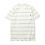 "<span style=""font-family:NanumGothic; font-size:15px; font-weight:bold;"">Thin Stripe S/S T-shirt Green</span><br /><span style=""font-family:NanumGothic; font-size:11px;"">적당한 두께감의 20수 코튼원단을 사용하였으며 세탁 시 수축 변형과 손 세탁 시 자연건조 후 구김을 최소화하기 위해 Pre-Shrunk / 덤블가공처리 하였습니다. 전면의 포켓을 커버스티치방식으로 촘촘하게 봉제하여 포인트를 주었으며 넓은 간격으로 얇은 스트라이프 라인을 매칭한 것이 특징인 제품입니다.</span><br /><a href=""http://www.wherehouse.co.kr/shop/shopdetail.html?branduid=723503&xcode=009&mcode=001&scode=&type=Y&search=&sort=order"" target=""_blank""><span style=""font-size:11px; color:#FFE400;"">BUY NOW</span></a>"