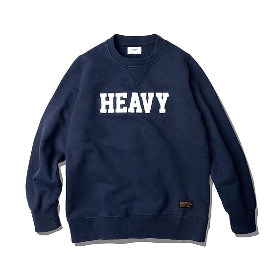 """<span style=""""font-family:NanumGothic; font-size:15px; font-weight:bold;"""">HVY Heavyweight Sweat Shirt Navy</span><br /><span style=""""font-family:NanumGothic; font-size:11px;"""">일반적인 560g대의 니팅 제품들보다 월등한 두께감과 밀도로 제직된 제품으로 야드당930g의 헤비함을 가지고 있으며 소재의 탄탄함을 기본으로 하여 소매와 허리라인의 재봉을 3/N Coverstitch Top & Bottom 1/4 재봉으로 단단하게 마감하여 전체적인 완성도를 높였습니다. 또한 이번 시즌의 테마 문구인 'HEAVY'타이포를 펠트 아플리케 처리하여 외형의 디자인에서도 헤비함을 갖추도록 마무리 되었습니다.</span><br /><a href=""""http://www.wherehouse.co.kr/shop/shopdetail.html?branduid=725667&xcode=019&mcode=009&scode=&type=Y&sort=order"""" target=""""_blank""""><span style=""""font-size:11px; color:#FFE400;"""">BUY NOW</span></a>"""
