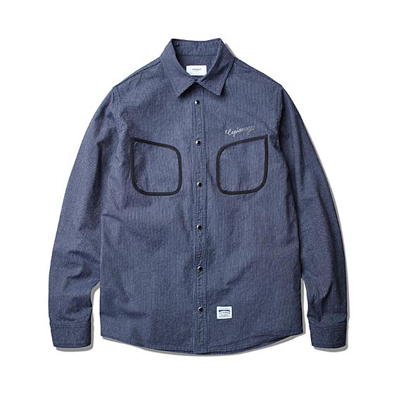 """<span style=""""font-family:NanumGothic; font-size:15px; font-weight:bold;"""">Osman 2 Pocket Work Shirt Navy</span><br /><span style=""""font-family:NanumGothic; font-size:11px;"""">지난 시즌 선보인 Walt Hickory Shirt의 연장선에서 디자인된 새로운 워크셔츠 제품으로 1930년대 노동자들의 자켓이었던 Beach Cloth Jacket을 셔츠로 재해석한 제품입니다. 스트라이프 패턴으로 내구성이 좋고 원단에 얼룩이 잘 보이지 않아 워크웨어에서 널리 사용되는 히코리 원단을 바디원단으로 채택하여 워크웨어 특유의 견고한 느낌을 강조하였으며 Beach Cloth Jacket의 특징인 포켓 제작 방식을 그대로 재현하여 당시대의 느낌을 추구하였습니다.</span><br /><a href=""""http://www.wherehouse.co.kr/shop/shopdetail.html?branduid=725344&xcode=019&mcode=002&scode=&type=Y&sort=order"""" target=""""_blank""""><span style=""""font-size:11px; color:#FFE400;"""">BUY NOW</span></a>"""