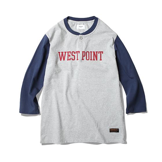 "<span style=""font-family:NanumGothic; font-size:15px; font-weight:bold;"">West Point L/S Shirt Navy</span><br /><span style=""font-family:NanumGothic; font-size:11px;"">이번 시즌 에스피오나지에서 새롭게 제직된 밀도높고 중량감있는 10수 Cotton 원단을 사용하여 단단하게 재봉된 제품입니다. 헨리 셔츠의 넥라인 패턴을 믹스하여 넥라인을 마무리 했으며 전면 West Point(미육군사관학교)의 나염 처리하여 밀리터리 베이스볼 셔츠를 새롭게 해석 하였습니다. 부자재로는 Scovill社의 Metal Button을 사용하여 완성도를 높였으며 최종 제품의 원워싱 방축 가공처리로 수축률을 최소화 하여 시즌이후에도 꾸준하게 착용이 가능한 제품을 만들고자 했습니다.</span><br /><a href=""http://www.wherehouse.co.kr/shop/shopdetail.html?branduid=725155&xcode=019&mcode=001&scode=&type=Y&sort=order&cur_code=019001&GfDT=bmt1W14%3D"" target=""_blank""><span style=""font-size:11px; color:#FFE400;"">BUY NOW</span></a>"