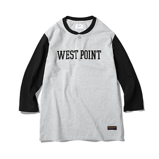"<span style=""font-family:NanumGothic; font-size:15px; font-weight:bold;"">West Point L/S Shirt Black</span><br /><span style=""font-family:NanumGothic; font-size:11px;"">이번 시즌 에스피오나지에서 새롭게 제직된 밀도높고 중량감있는 10수 Cotton 원단을 사용하여 단단하게 재봉된 제품입니다. 헨리 셔츠의 넥라인 패턴을 믹스하여 넥라인을 마무리 했으며 전면 West Point(미육군사관학교)의 나염 처리하여 밀리터리 베이스볼 셔츠를 새롭게 해석 하였습니다. 부자재로는 Scovill社의 Metal Button을 사용하여 완성도를 높였으며 최종 제품의 원워싱 방축 가공처리로 수축률을 최소화 하여 시즌이후에도 꾸준하게 착용이 가능한 제품을 만들고자 했습니다.</span><br /><a href=""http://www.wherehouse.co.kr/shop/shopdetail.html?branduid=725154&xcode=019&mcode=001&scode=&type=Y&sort=order&cur_code=019001&GfDT=aW93Ug%3D%3D"" target=""_blank""><span style=""font-size:11px; color:#FFE400;"">BUY NOW</span></a>"
